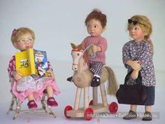 Миниатюрные авторские куклы Катерины Мунир (Catherine Muniere dolls), материал - FIMO.