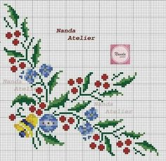 Xmas Cross Stitch, Cross Stitch Cards, Cross Stitch Borders, Cross Stitch Flowers, Cross Stitch Designs, Cross Stitch Patterns, Christmas Cross, Diy Christmas Ornaments, Embroidery Art