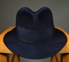 c5979a6447e MIDNIGHT BLUE EARLY 20th CENTURY 1920 S FELT FEDORA -