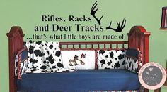 Vinyl Wall Decal - Deer Antlers - What Little Boys are Made of- Nursery Vinyl Wall Decals - Nursery Decor - Cowboy Nursery - Western Theme on Etsy, $25.00