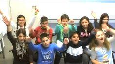 "Students at Winners School in Greece saying, ""Helllloooo!"""