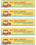 Free printable bookmarks for Picture Book Month