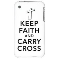Keep faith and carry cross contemporary Christian design iphone3 case