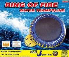 H2O Sporting Ring of Fire Water Trampoline / Bounce Platform, H2O Sporting - Water Trampolines, Water Ski Tubes, Towables, Snorkel Sets - Kitchener, Waterloo, Ontario, Canada