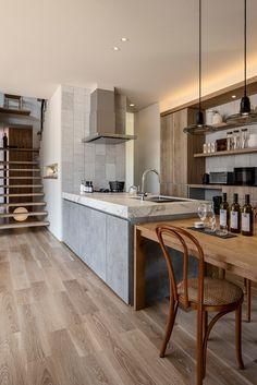Kitchen Dinning, Kitchen Decor, Kitchen Design, Modern Kitchen Island, Dream Rooms, Kitchen Interior, Home And Living, Room Inspiration, Decoration