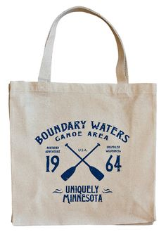 Minnesota's Boundary Waters Canoe Area Wilderness (BWCAW) was established in 1964. Our vintage, sport-inspired BWCAW Series 100% canvas tote harkens back to the time residents had foresight to protect this beloved region known for adventure, solitude and beauty.