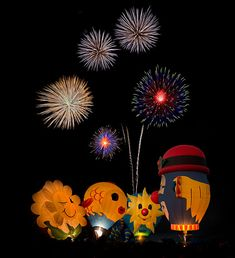 Hot Air Balloons And Fireworks Display - Free Stock HD Image The Balloon, Hot Air Balloon, Free Pictures, Free Photos, Photographing Fireworks, Fireworks Photography, Focus Photography, Balloon Pictures, Photography Sketchbook