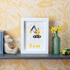 Image of Personalised Transport Clocks Free Delivery, Clocks, Transportation, Children, Frame, Young Children, Picture Frame, Boys