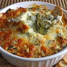 Hot spinach artichoke dip... Mmmm