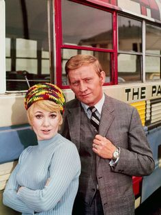 Dave Madden as manager 'Ruben Kincaid' & Shirley Jones as 'Shirley Partridge' in The Partridge Family (1970-74, ABC)