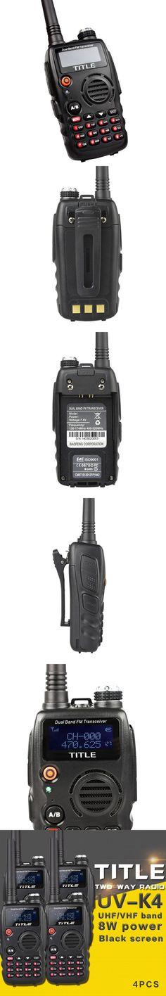 (4 PCS)Black KSUN protable radio UV-K4 Dual Band UHF VHF Two Way Radio for Baofeng UV-5R/BaoFeng UV-82 walkie talkie