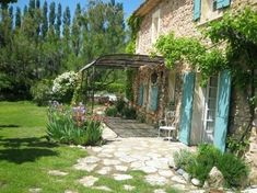 Pergola Ideas For Deck Info: 6630736041 Pergola Patio, Backyard, Pergola Kits, Pergola Ideas, Mediterranean Garden, Outdoor Living, Outdoor Decor, French Country House, Stone Houses