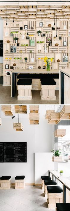 These wooden crates are used for shelves, stools and even chandeliers for a natural look. http://hative.com/diy-ideas-with-milk-crates-or-wooden-crates/