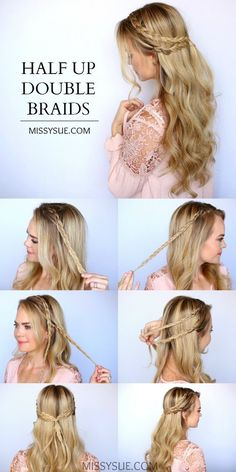 half-up double braid #halfup #braid #double #hair #lovehair #easy #amazing