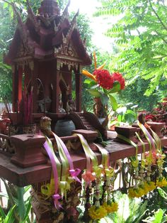 Every Thai home has a spirit house. You have to treat the spirits well to ensure a good future for your home and family.