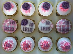 Cupcake 18 jaar #cupcake #iris #rose #birthday #girl #sweet