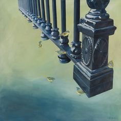 Inspired by her travels to New York, artist Lacey Shelton paints a modern rendition of the metal artistry of a blue gate. This item is final sale and non-returnable. New York Travel, Negative Space, Main Street, Interior Decorating, Art Prints, Bff, Modern, Final Sale, Painting