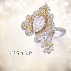 Lugano Diamonds' Yellow Briolette Wrap Ring is where vintage glam meets modern marvel.  #GoldenGlam #Ring
