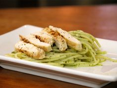 Pesto Pasta with Grilled Chicken