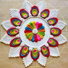 Easy Rangoli Designs Videos, Easy Rangoli Designs Diwali, Rangoli Simple, Indian Rangoli Designs, Rangoli Designs Latest, Simple Rangoli Designs Images, Rangoli Designs Flower, Free Hand Rangoli Design, Small Rangoli Design