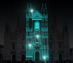video mapping / milano / duomo