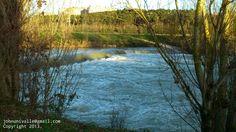 Río Arga en invierno.