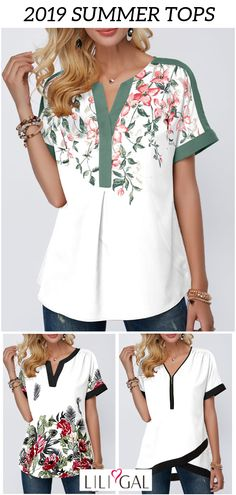 2019 Summer Tops cute summer tops white summer tops for women over boho summer tops, casual floral print blouses, modest summer tops, vintage t shirts, trendy summer tops. Boho Summer Outfits, Boho Outfits, Fashion Outfits, Womens Fashion, Fashion Hats, Fashion Shoot, Cute Summer Tops, Mode Simple, Vintage T-shirts