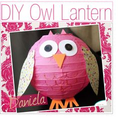 DIY owl lantern, created by thepolyvoretipchics on Polyvore...this would be adorable in a little girls room!