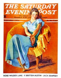 Saturday Evening Post - 1934-09-01: Woman in Chair (F. Sands Bruner)