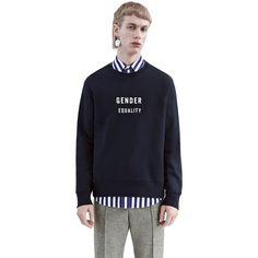 Acne Studios Casey gender black is a slim fitting sweatshirt featuring this season's feminist slogan print.