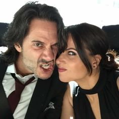 Lana Parrilla and Fred, is it just me or do these two just make marriage look really fun