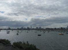 Melbourne - Melbourne skyline across the Bay