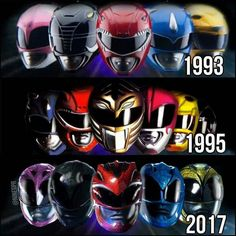 MMPR Helmets Mode 1, 2 and 3