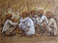 Sanjay Soni #Gossip #Acrylic on-#Canvas #Paintings #Eikowaarts
