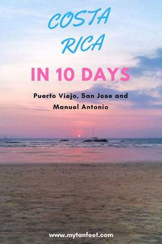 A 10 day sample Costa Rica itinerary to Puerto Viejo, San Jose and Manuel Antonio: https://mytanfeet.com/costa-rica-travel-tips/10-day-costa-rica-itinerary/