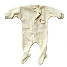 Organic Merino Wool Babygrow for Premature Babies