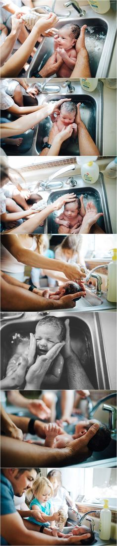 Documentary Inspired |Lifestyle Photography | Real Moments | Raw Emotion | Newborn Session | Bath in Sink