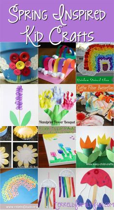 Awesome roundup of spring inspired crafts! All colorful and easy- prefect for preschoolers!