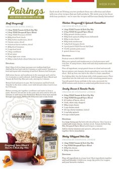 Yiah stroganoff spice blend and tomato and herb dip mix recipes…