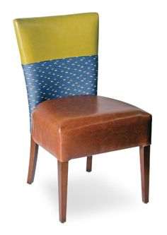 Part of the Allo collection. Features fully upholstered seat and back only exposing the beech wood legs.