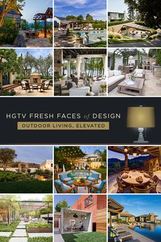 """12 Inspiring Outdoor Rooms: From lush gardens to crystal-clear pools and hardscapes that add style underfoot, these hip hangouts turn the backyard into your favorite """"room"""" of the house. >> http://www.hgtv.com/design/fresh-faces-of-design/2015/outdoor-living-elevated?soc=pinterest"""