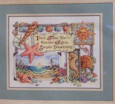 Simple Treasures Sandy Orton Kooler  Dimensions Cross Stitch Kit Ocean Starfish