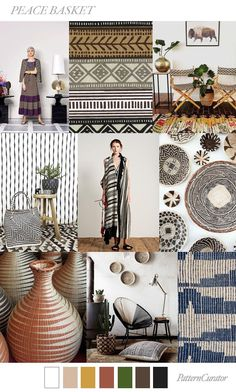 FASHION VIGNETTE: TREND | PATTERN CURATOR - PEACE BASKET . SS 2019