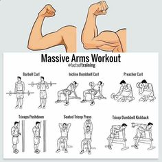 Fitness Is Easy When You Use These Powerful Tips Fitness Workouts, Gym Workout Tips, At Home Workouts, Workout Men, Workout Motivation, Bicep And Tricep Workout, Biceps And Triceps, Dumbbell Workout, Chest Workouts