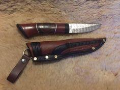 Handgjord kniv med handsmitt blad på Tradera.com - Knivar från