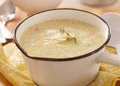 Carnation®   Cream of Mushroom Creamed Asparagus, Asparagus Recipe, Creamed Mushrooms, Stuffed Mushrooms, Baked Potato Soup, Sweet Potato Soup, Spicy Recipes, Soup Recipes, Carnation Milk Recipes