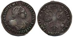 Russia - Peter I, 1682-1725 Peter I (The Great) 1 rouble 1719 Moscow - Kadashevsky mint. 28,58 g. Somewhat irregular edge, naturally. Bitkin 269. F-VF  Dealer Myntkompaniet & AB Philea  Auction Starting Price: 12000.00 SEK (app. 1304 EUR)