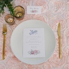 Gorgeous Wedding tablescape.    Luxe Wedding & Event Linens by MagpieLinens…