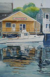 Pat Heintzelman Watercolors: Nantucket Harbor
