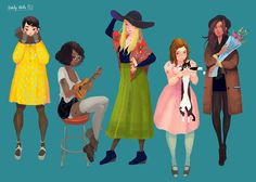 Daily Girls Project on Behance